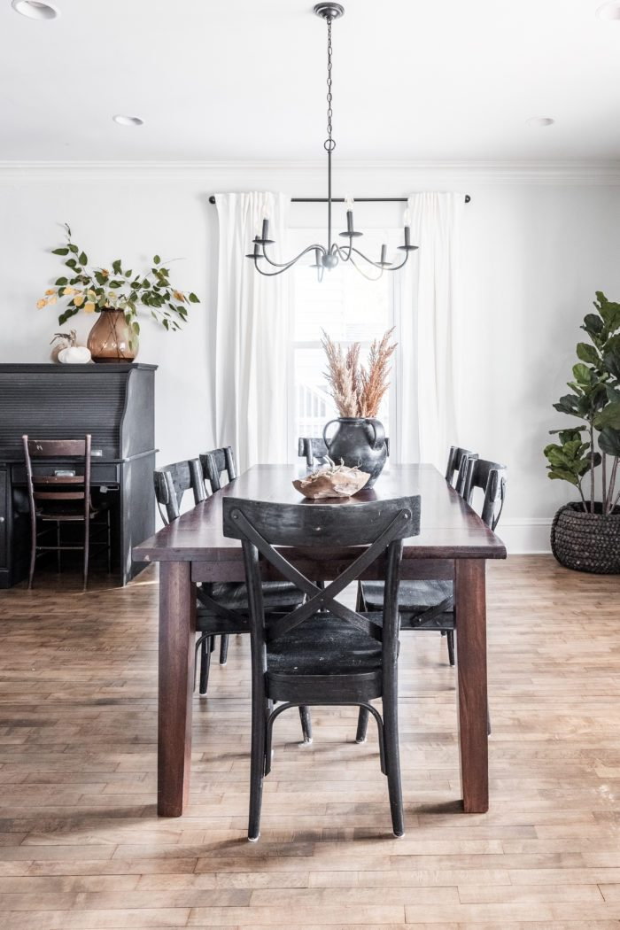 Modern Neutral Fall Home Tour Dining Room.