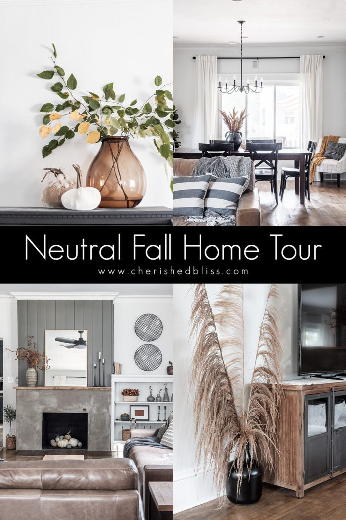 Neutral Fall Home Tour Photo Collage
