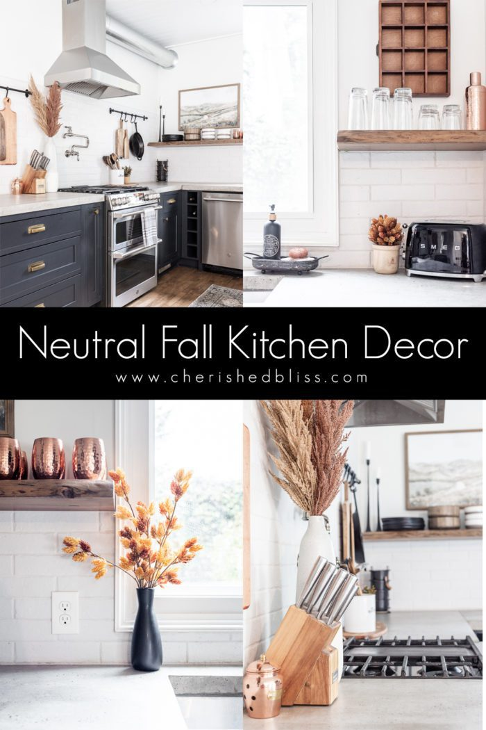 Modern Rustic Fall Kitchen Decor - A Fall Home Tour
