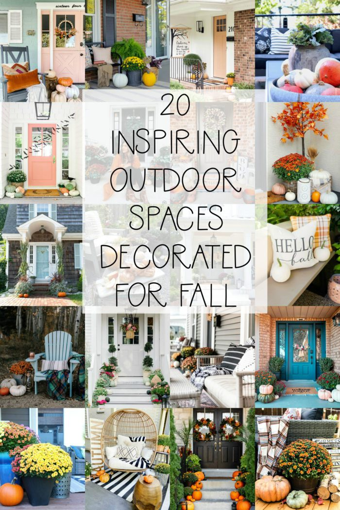 30 Inspiring Outdoor Spaces Decorated for Fall!