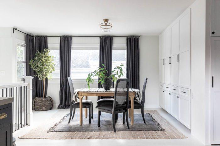 Black and White Breakfast Room Makeover