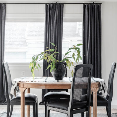 High Contrast Breakfast Room Makeover