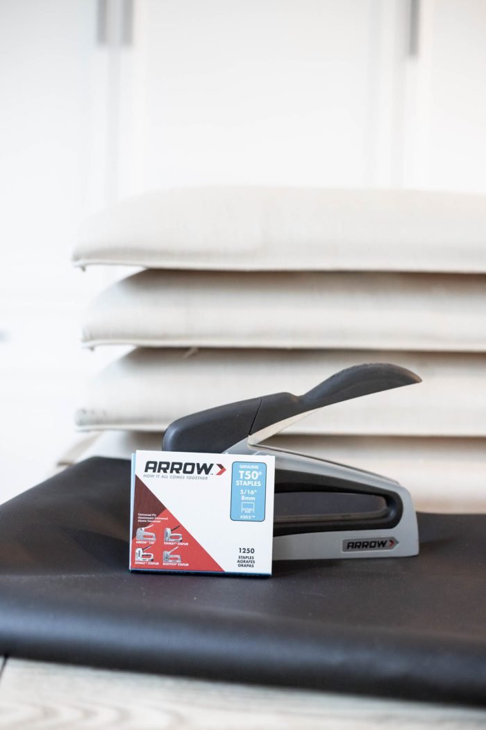 Use an Arrow Fastener Stapler to recover a chair cushion!