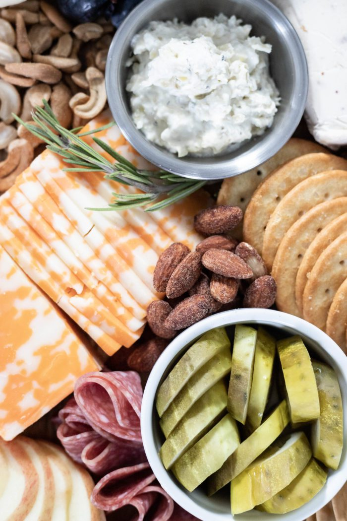 Add Dips and Finger Foods to your Charcuterie Board