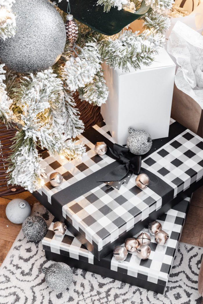 Black and White Christmas Boxes for Presents