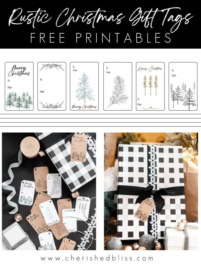 Download these Rustic Christmas Gift Tags