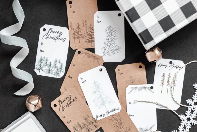 Rustic Christmas Gift Tag Printables