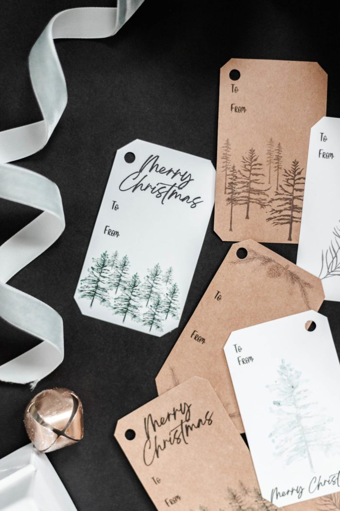 Watercolor Rustic Gift Tags