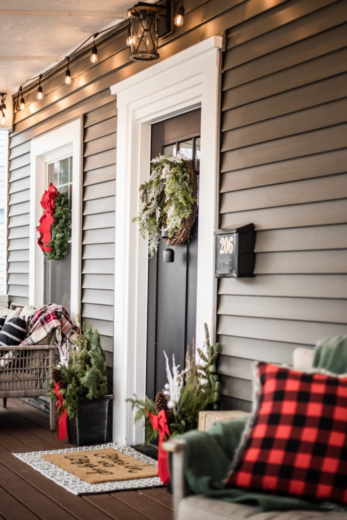 Classic Craftsman Christmas Porch Decor