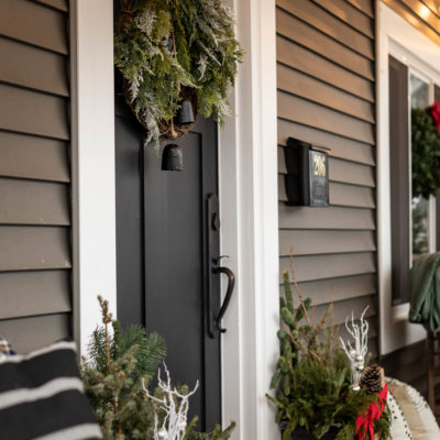 Classic Christmas Porch Decor with a Modern Twist