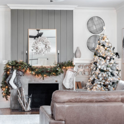 Rustic Luxe Christmas Mantel Decor Ideas