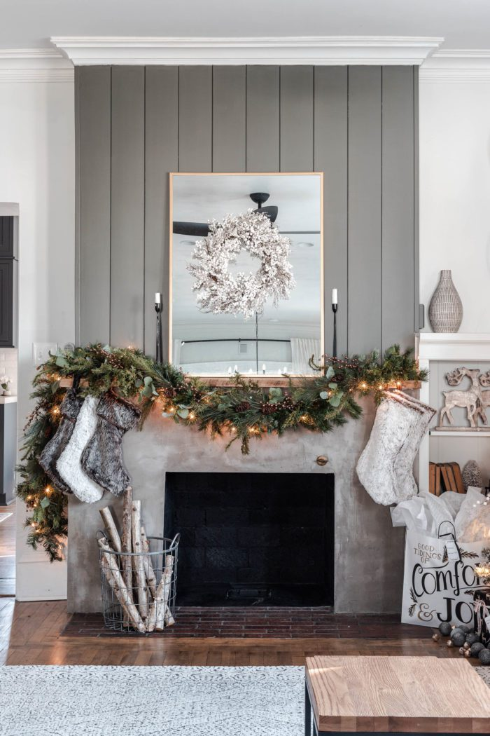 Rustic Luxe Christmas Mantel Decor
