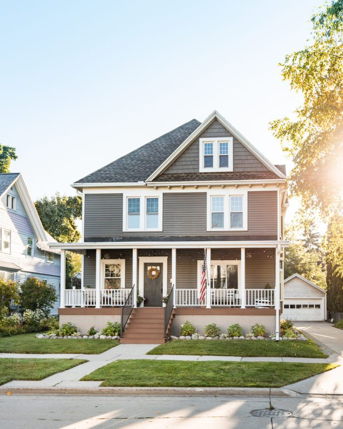 Remodel the your house's exterior to add value to your home before selling.