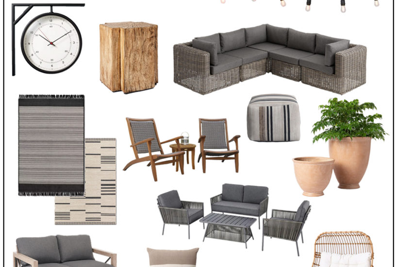 Shop these modern neutral looks for all your Summer Outdoor Furniture and Decor needs!