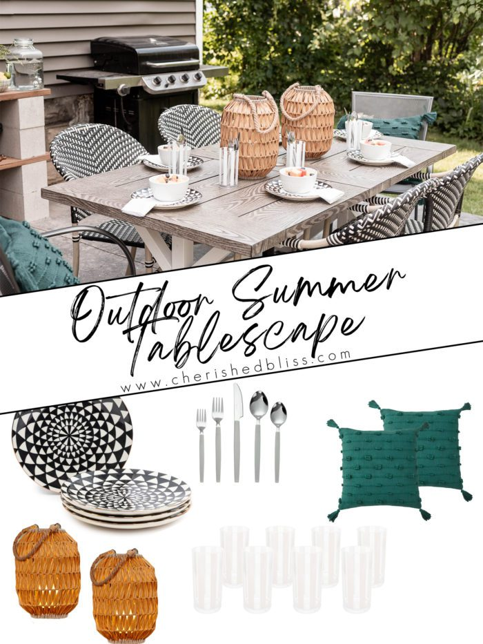 outdoor summer tablescape - shop the items.
