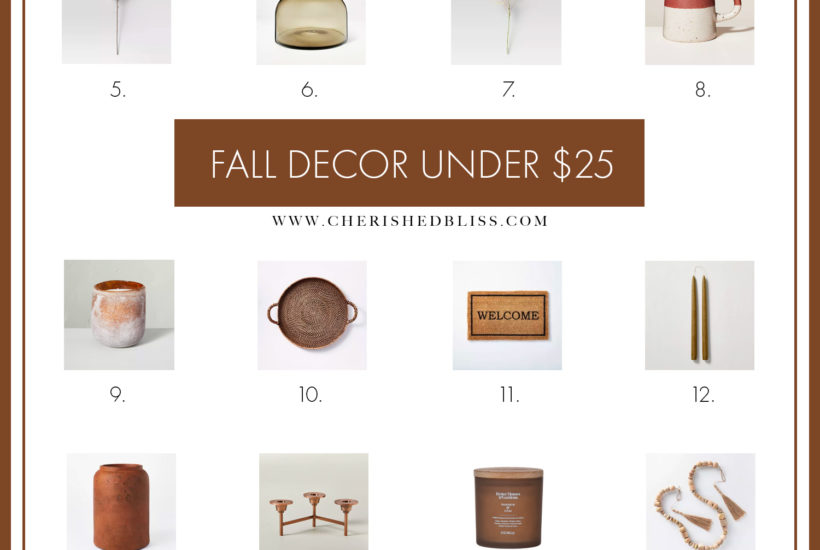 Shop this round up of budget-friendly Neutral Fall Decor Under $25 and get tips on how to decorate for this beautiful season without breaking the bank!