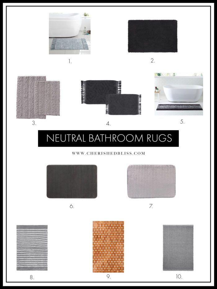 Shopping guide for Neutral Bathroom Rugs.