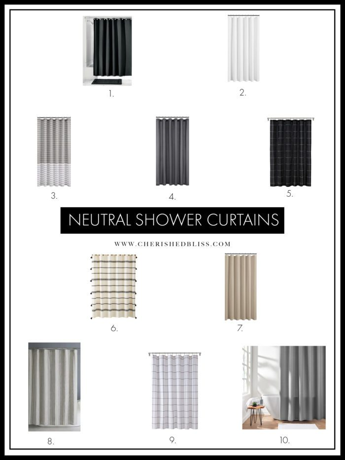 Shopping guide for Neutral Shower Curtains.